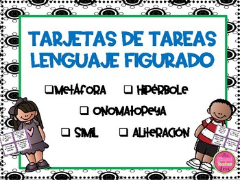 Figurative Language Task Cards in Spanish