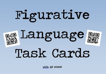 Figurative Language Task Cards with QR Codes