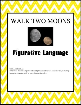 Figurative Language Task Cards with Walk Two Moons