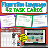 Figurative Language Task Cards | PDF and Digital |
