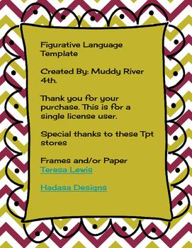 Figurative Language Template