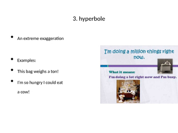 Figurative Language Terms PPT