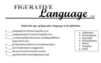 Figurative Language Test