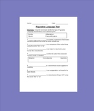 Figurative Language Test (With Adapted Version)