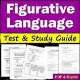 Figurative Language Test and Study Guide - Printable & Digital