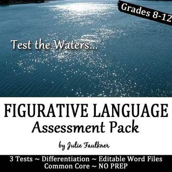 Figurative Language Practice and Assessment, Worksheets and Quizzes