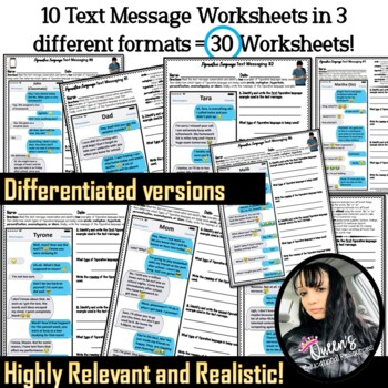 Figurative Language Text Messaging (41 pages)