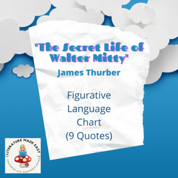 Figurative Language - The Secret Life of Walter Mitty by James Thurber