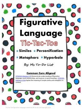 Figurative Language Tic-Tac-Toe Game