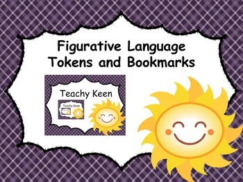 Figurative Language Tokens and Bookmarks