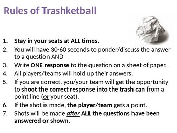 Figurative Language Trashketball: The Musical Version
