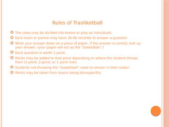 Figurative Language Trashketball game
