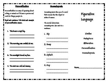 Figurative Language Trifold