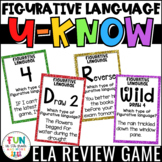 Figurative Language Game for Literacy Centers: U-Know