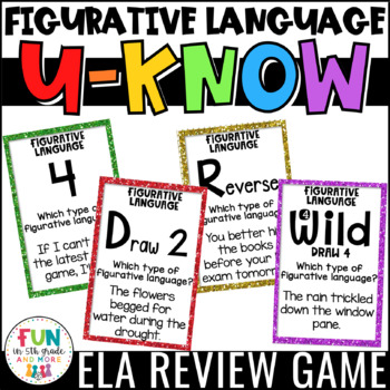 Figurative Language Game | Figurative Language Activity Review | U-Know