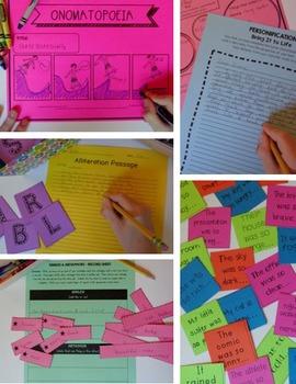 Figurative Language Unit:  6 Types of Figurative Language Worksheets and Lessons