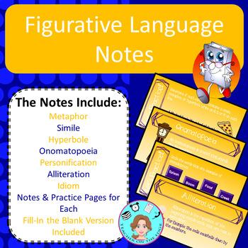 Figurative Language Unit Bundle – Upper Elementary – No Prep, Print & Go