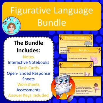 Figurative Language Unit Bundle – Upper Elementary – No Prep, Print, & Go