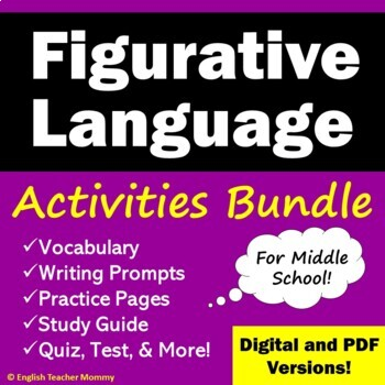 Figurative Language Activities Bundle - Save 20%!