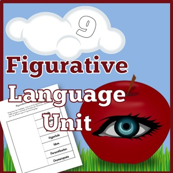 Figurative Language Unit: Foldable, Worksheets, and Lesson Materials