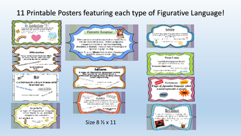 Figurative Language Unit: Posters, Flashcards, and Worksheets!