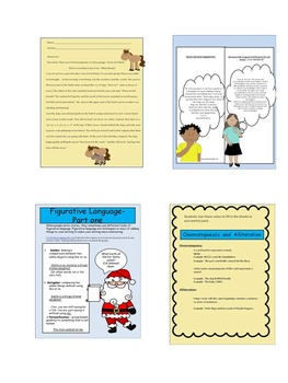 Figurative Language- Power point and lessons