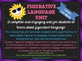 Figurative Language Unit-Similes, Metaphors, etc Colorful, Interactive, Complete