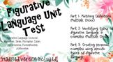 Figurative Language Unit Test With Modified Version