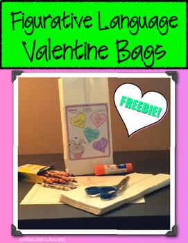 Figurative Language Valentine Bags Freebie