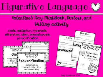 Figurative Language of Love {Valentine's Day} Mini-Book and Posters