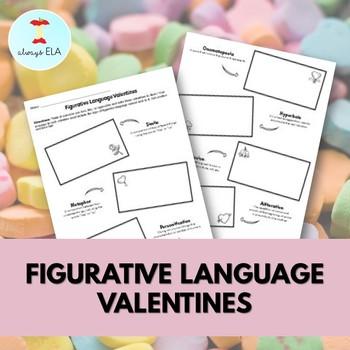 Valentine's Day Figurative Language Worksheet