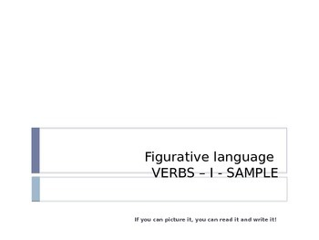 Figurative Language - Verbs Level I preview