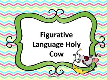 Figurative Language Vocabulary Game - Holy Cow!