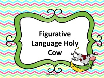 Figurative Language Vocabulary Game - Holy Cow!