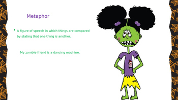 Figurative Language Vocabulary Powerpoint Zombie Style