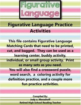 Figurative Language Vocabulary Practice Activities