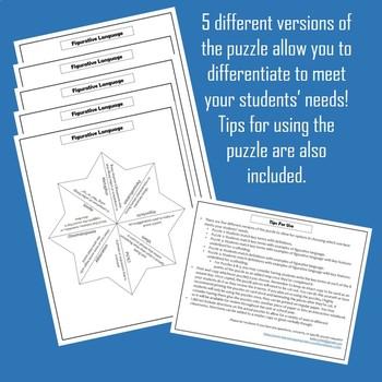 Figurative Language Vocabulary Puzzle