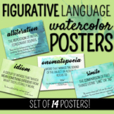 Figurative Language Watercolor Posters