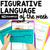 Figurative Language Weekly Activities