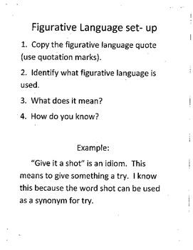 Figurative Language Weekly Work