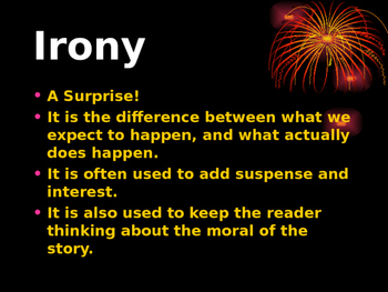 Figurative Language ~ What Is Irony?  (comes with internal student interaction)