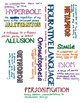 Figurative Language Word Clouds - Freebie