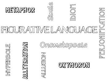 Figurative Language Word Clouds - Freebie