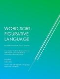 Figurative Language Word Sort
