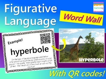 Figurative Language Word Wall {with QR Codes}
