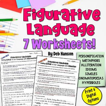 Figurative Language Worksheet Packet