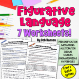 Figurative Language Worksheet Packet