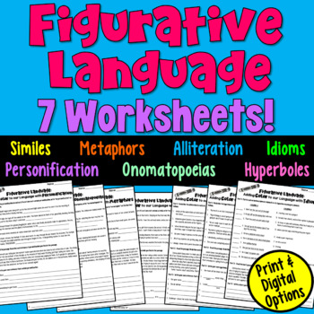 Figurative Language Worksheet Packet by Deb Hanson | TpT