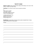 Figurative Language Worksheet (Poems of Emily Dickinson)