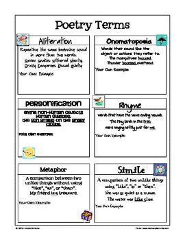 figurative language worksheet poster free by addie. Black Bedroom Furniture Sets. Home Design Ideas